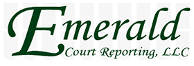 Emerald Court Reporting Logo